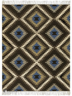 Kilim Chevron Chocolate
