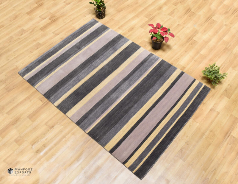 Dianne Grey Stripe Interior